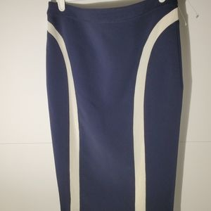 Rag & Bone blue pencil skirt zipper back size 0
